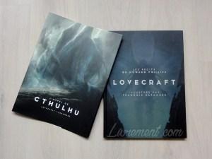Photographie du livre L'appel de Cthulhu de Lovecraft, illustré par Baranger : couverture et jaquette