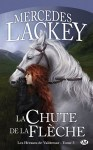 """Couverture du roman titré """"La chute de la Flèche"""" de Mercedes Lackey, tome 3 des Hérauts de Valdemar"""
