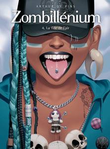 """Couverture de la BD """"La fille de l'air"""" d'Arthur De Pins, tome 4 de Zombillénium"""