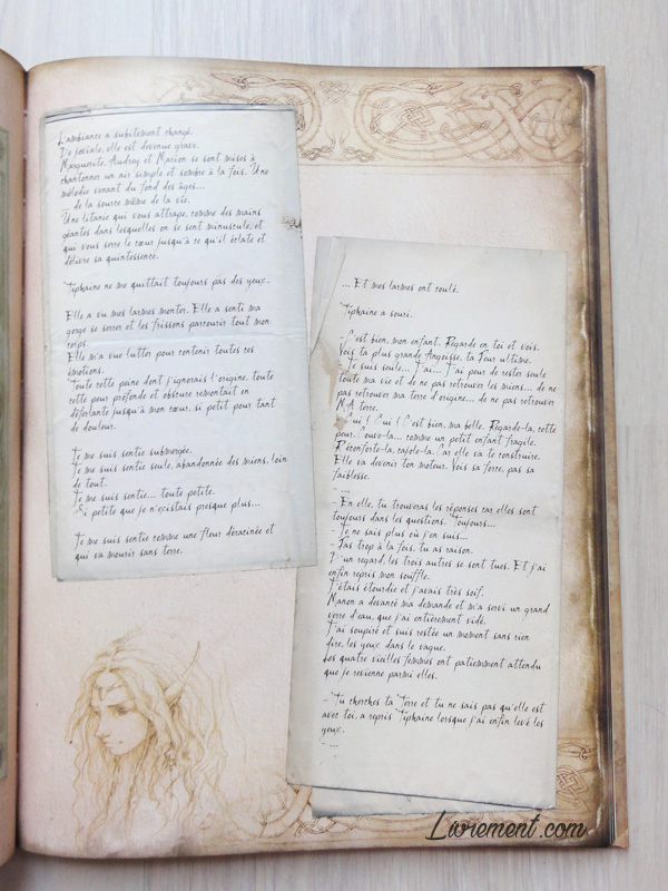Page typée parchemin dans La petite faiseuse de Sandrine Gestin