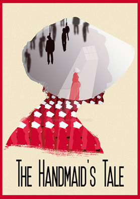 Fan art du roman The Handmaid's tale de Margaret Atwood