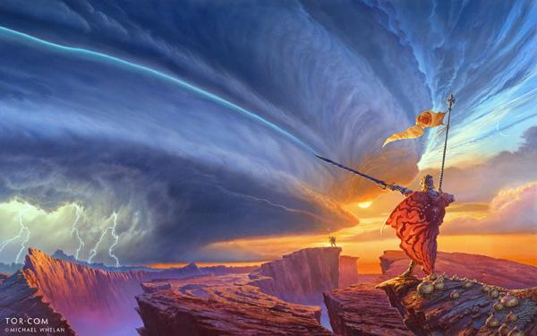 La voie des rois illustration de couverture par Michael Whelan