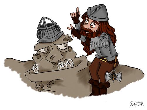 Le guet des orfèvres : illustration de Detritus et Bourrico