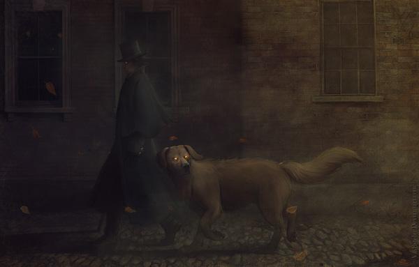 Le songe d'une nuit d'octobre de Roger Zelazny : fan art où apparaissent Snuff le chien et Jack son maître