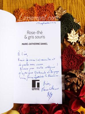 Salon littéraire Ménétrol : Les Aventuriales - Dédicace de Rose thé et gris souris par Marie Catherine Daniel