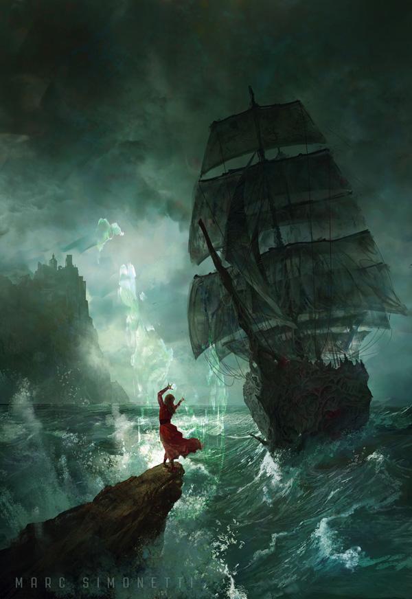 Les Seigneurs de Bohen, illustration de couverture par Marc Simonetti