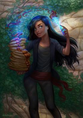 Fan art de Lift par Katie Payne, Lift est un personnage de Brandon Sanderson