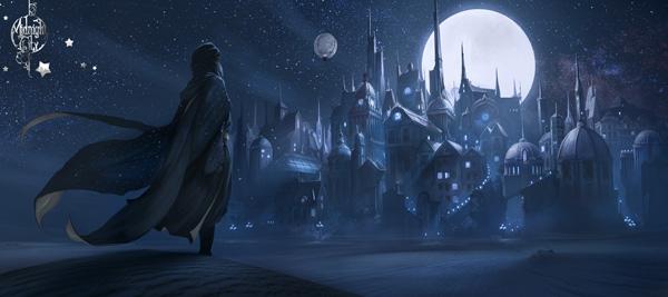 Illustration du marchand de sable par Xavier Collette, personnage issu du roman Midnight City de Rozenn Illiano