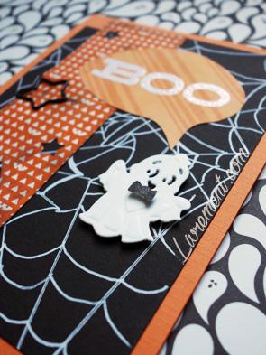 Carte scrap thème halloween