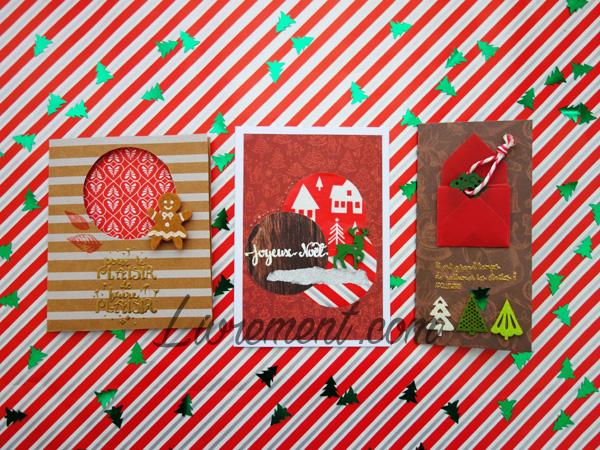 Scrapbooking de cartes pour Noël