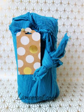 Furoshiki, méthode d'emballage japonaise avec un tissu
