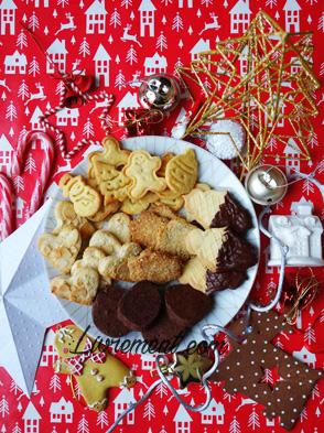 Biscuits confectionnés pour Noël