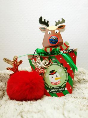 Boite à chocolats et pompon de Noël