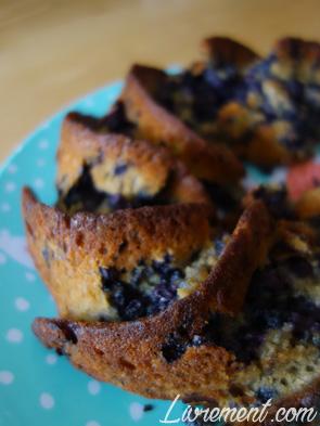 Gâteau au yaourt et aux myrtilles