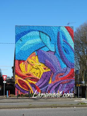 Graffiti coloré à Toulouse