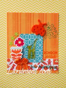 Scrap d'une carte vitaminée (tons oranges)