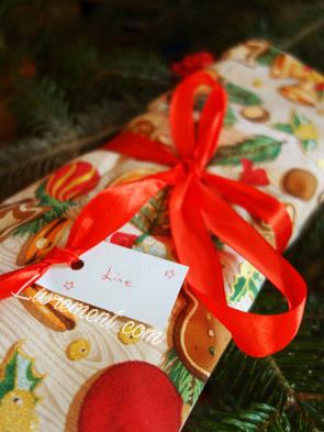 Furoshiki avec du tissu de Noël