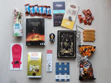 Colis de Carole : livres et chocolats