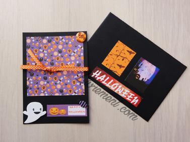Carte scrapée sur le thème d'Halloween