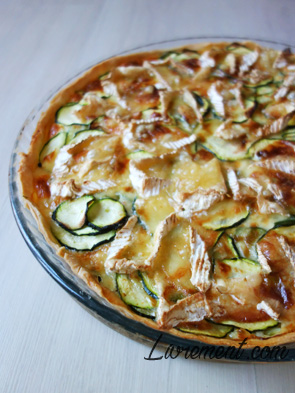 Tarte courgettes camembert faite maiso,n