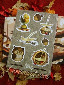 planche de stickers The Little Witches Exodus de Xavier Collette