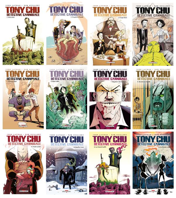 Mosaïque de tous les tomes de Tony Chu de Layman et Guillory