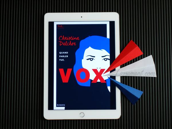 """Mise en scène du roman """"Vox"""" de Christina Dalcher"""