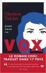 """Couverture du roman """"Vox"""" de Christina Dalcher"""
