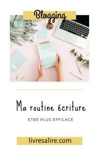 Blog littéraire - organisation - écriture
