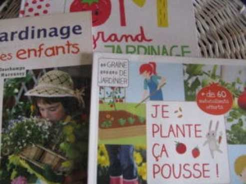 livres pour le jardinage avec les enfants