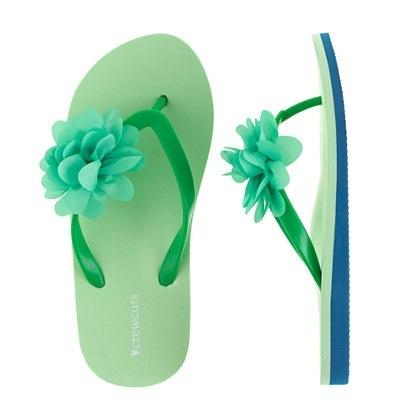 J Crew Girls Colorblock Flip Flops