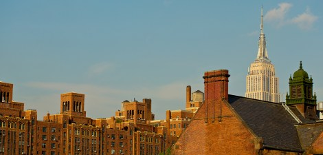 View from The High Line in New York City.