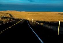 Driving along Highway 206 through Oregon.