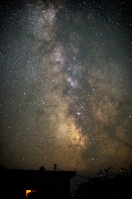 That night, I photographed the Milky Way in front of Rick and Danielle's home.