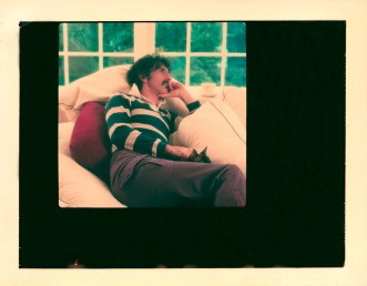 This one is a Polaroid, in his Hollywood Hills home.