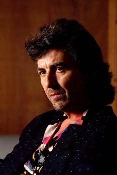 George Harrison, being interviewed at Warner Bros. Records Burbank offices.