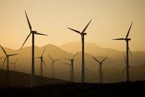Palm Springs energy-generating farm.