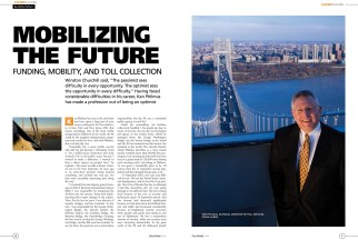 The opener for a British magazine, a portrait of a Port Authority guy. The best part of this gig was going to the very top of the George Washington Bridge.