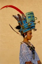 This young woman, a soap star in Mexico, played a Mayan queen.