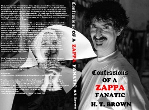 My friend Tom Brown's book on Mr Zappa, using a photo I made at a music video session.