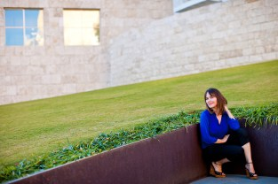 The founder of Lipstick Angels, Renata Helfman, photographed at The Getty.