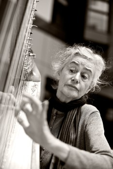 This is Uma O'Donovan, who takes her harp into the rooms of sick people and gives their spirit a lift.