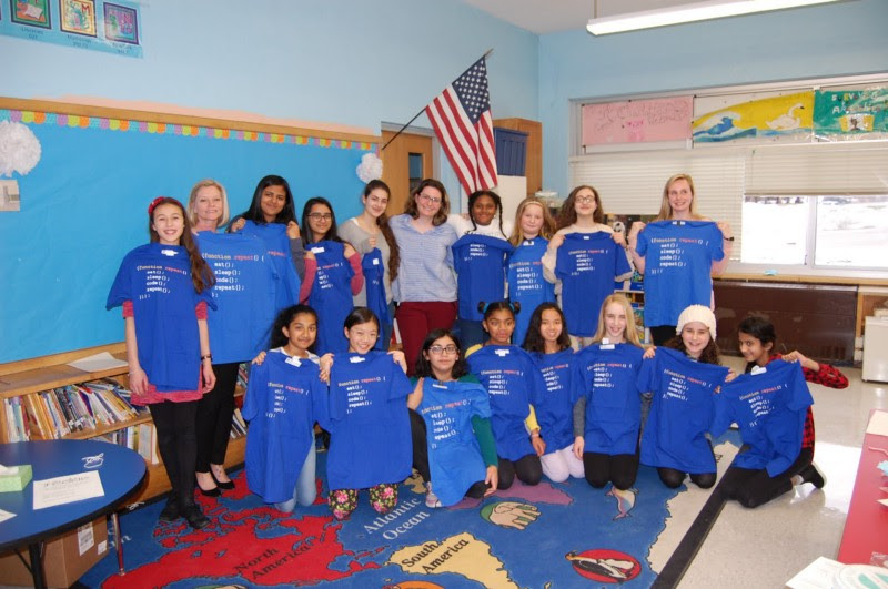 Margarita Zias' visit to Long Island School for theGifted