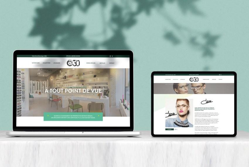 Création de site internet opticien Bayonne - boutique o30 Pays Basque