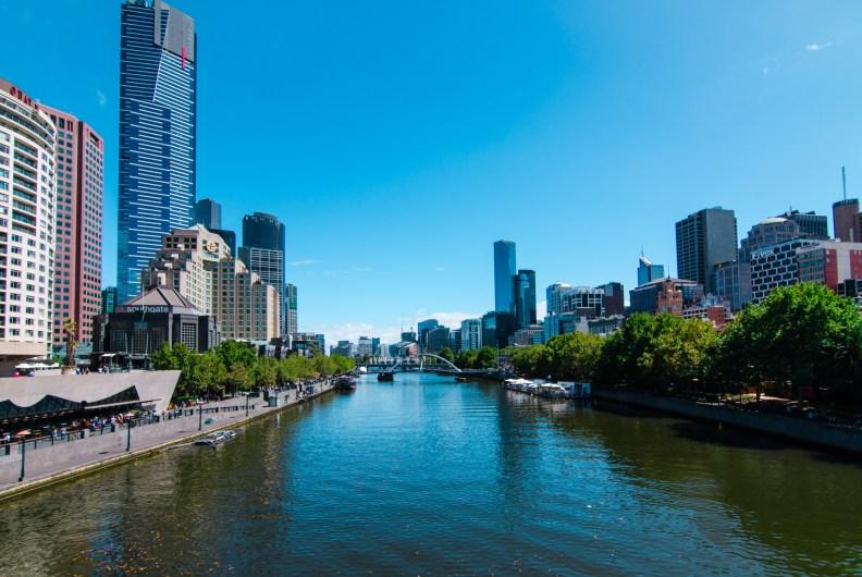 Melbourne Yarra River City Buildings Street Photography