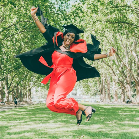 Graduate jumps in excitement as Liyat G Haile Photography captures the action