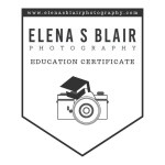 Elena S Blair Photography Education Certificate