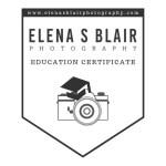 Elena S Blair Photography Education Certificate
