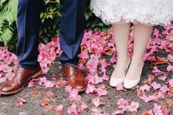 розовая свадьба фото
