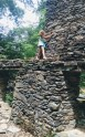 Climbing the walls of the ruins..